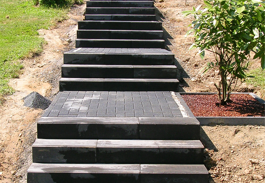 Ganz und zu Extrem Steintreppe und Pflasterweg | Garten und Stein Design #PQ_61